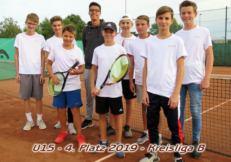 U15 Mannschaftsfoto mit Text